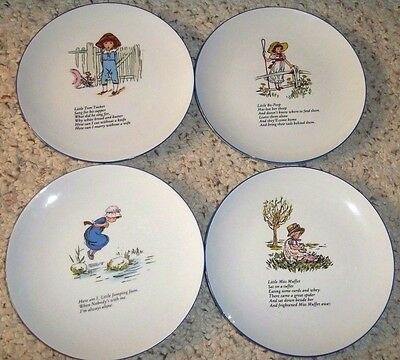 "METROPOLITAN MUSEUM OF ART NURSERY RHYMES Set Of 4 6.75"" Child's PLATES Decor"