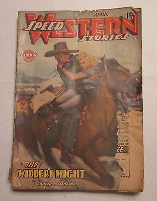 Speed Western Stories Pulp Magazine April 1944 Laurence Donovan Story