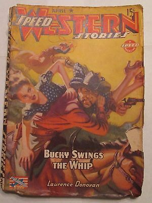 Speed Western Stories Pulp Magazine April 1943 Laurence Donovan Story