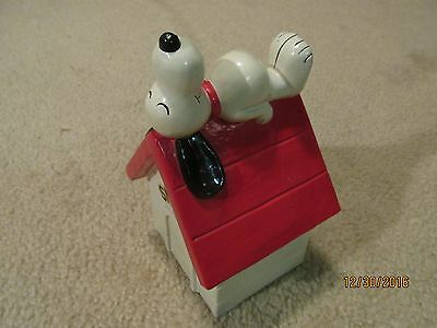 Vintage 1970 Snoopy on Doghouse Bank