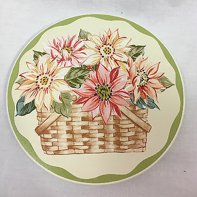 Longaberger Sunflower Coaster Set of Four,  Pottery, New in Box