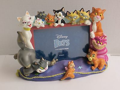 """Disney Pets Cats 3D Photo Frame 5"""" x 7"""" Picture The Aristocats Cheshire"""