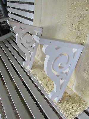 Victorian Style Wood Gingerbread Porch House or Brackets, Scroll Pattern, Pair
