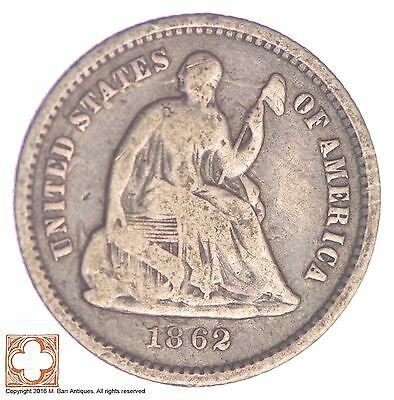 1862 Seated Liberty Silver Half Dime *XB06