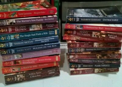 Lot of 20 Love Inspired Inspirational Romance Paperback Books FREE SHIPPING!!