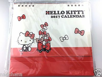 New Kitty Sanrio Japan Desk calendar 2017 character pop-up Monthly type Red
