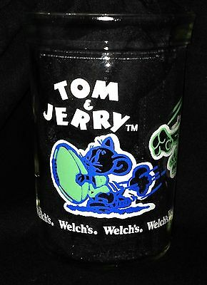 Vintage 1991 Tom and Jerry Welchs glass cup