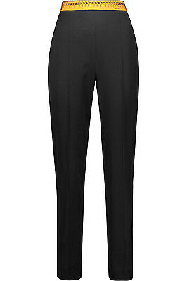 $850 MSRP Moschino Couture Jeremy Scott Measure Tape Pleated Wool Tapered Pants