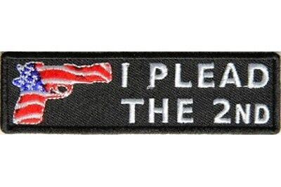 I Plead The 2Nd Embroidered Iron On Patch