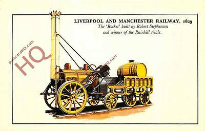 """Postcard: Liverpool and Manchester Railway """"Rocket"""""""
