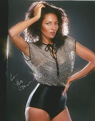 Pam Grier hand signed 8x10 photo, with COA