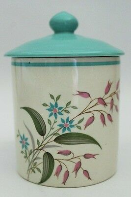 Vintage Crown Ducal Lidded Sugar Bowl With Flower Theme C1950's