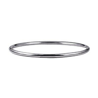 Babies/girls 925 Sterling Silver Solid Round Golf Bangle -Width 3Mm