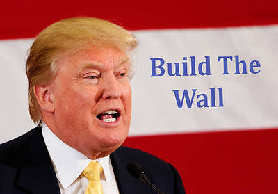 Postcard: President Donald Trump, Build the Wall [HQ-J-5]