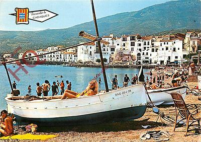 Postcard: Cadaques, Lady In Boat