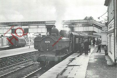 Postcard: NO. 4676 WITH TRAIN FROM LLANELLI AT PONTARDDULAIS 1963 (REPRO)