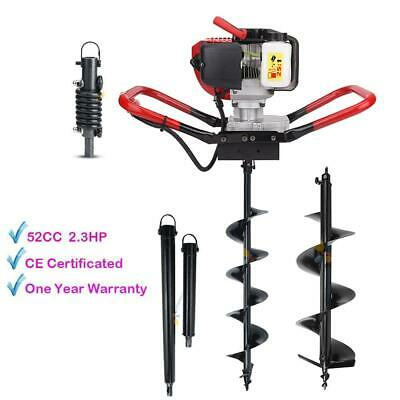 "2.3HP Gas Power One Man Post Hole Digger 6"" 10"" Auger Shock Absorber Extension"