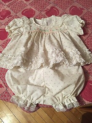 Ruffled Baby Two-Piece Dress Set : Fits Up To 6 Months