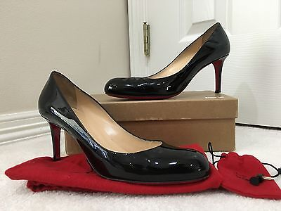 more photos acb95 9c19c CHRISTIAN LOUBOUTIN SIMPLE Pump 70 - Black - Patent Leather - Size 40.5