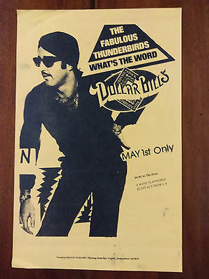 Ultra Scarce 1980 FABULOUS THUNDERBIRDS What's The Word Poster Jimmie Vaughan