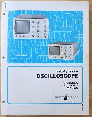 HP 1220A/1222A Oscilloscope Operating and Service Manual