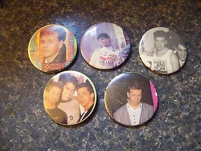Vintage New Kids On The Block Pinback Pin Button Lot Display Lot of 5 Different