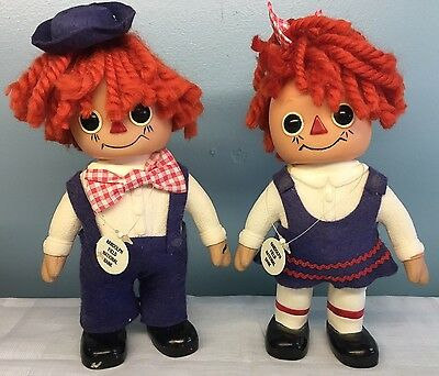 Vintage 1974 Raggedy Ann and Andy Royalty Industries Piggy Banks