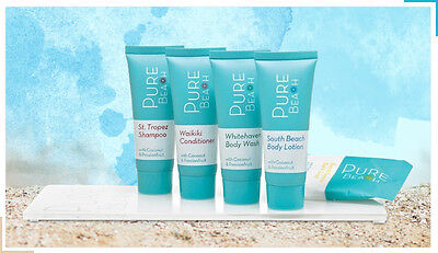 Pure Beach Guest Amenities Pack: 50 Shampoo, 50 Conditioners & 50 Soaps
