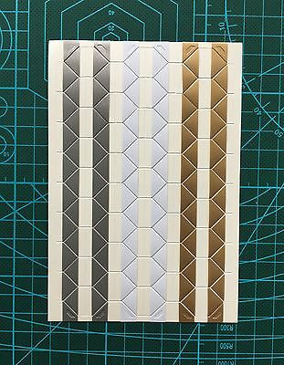510 pcs Gold Silver Photo Corner Sticker Self-adhesive Photo Album DIY Scrapbook