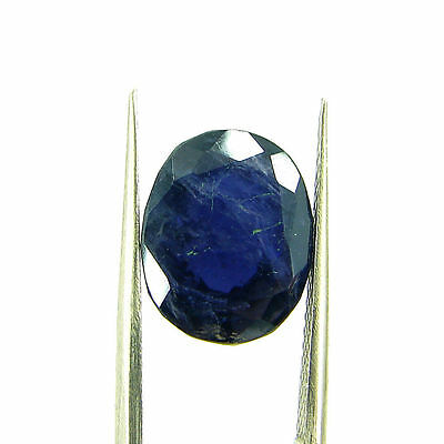 5.71 Ct Oval Natural Blue Iolite Loose Gemstone Untreated Stone - 116756