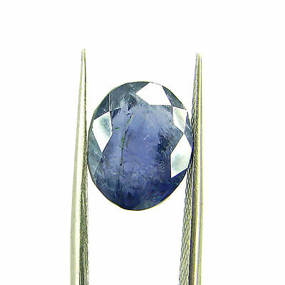 4.14 Ct Oval Natural Blue Iolite Loose Gemstone Untreated Stone - 116760