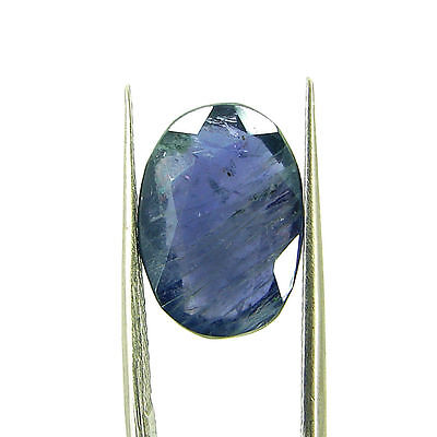4.71 Ct Oval Natural Blue Iolite Loose Gemstone Untreated Stone - 116780