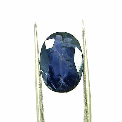 5.01 Ct Oval Natural Blue Iolite Loose Gemstone Untreated Stone - 116753