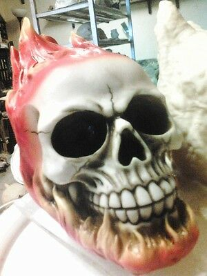 Skull on FIRE Latex Mold for Concrete , Plaster even Wax