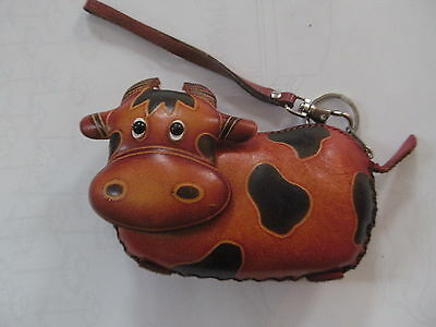Real Leather Change coin Purse  Wallet Credit Id Cards Holder Cow Shape Zipper