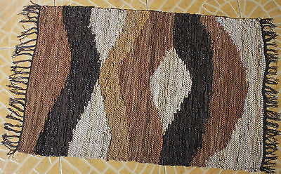 Brand New Modern Hand Woven Leather Area Rugs Leather Floor mats Leather Rugs