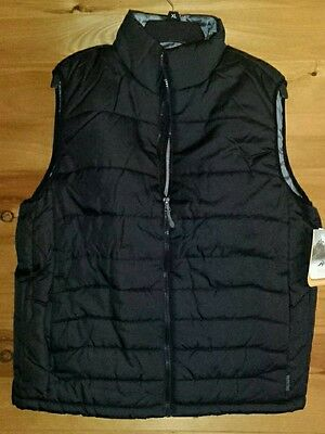 Men's Size Medium Pacific Trail Puffer Vest - Black - Nwt - Puffer Vest