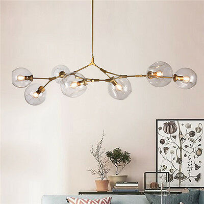 Lindsey Adelman Gold 7 Lights Glass Bubble Chandelier Hanging Pendant Lamp Light