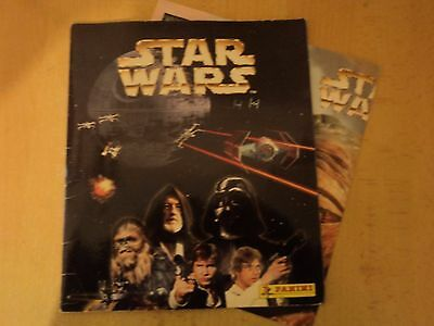 Completed Panini Star Wars Sticker Album With Complete Poster - Original Trilogy