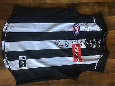 Collingwood Football Jumper Signed Guernsey Jersey Afl Magpies