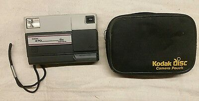 Vintage 1986 Kodak 470 disc camera with pouch