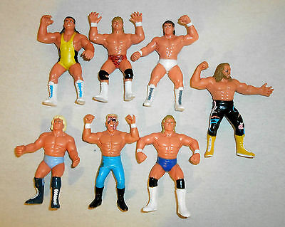 Wcw Galoob Lot # 3 (7 Pz) Michael Ps Hayes Sting Flair Wrestling Figure Wwe Wwf