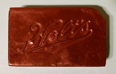 Vintage Holt's Tip Top Finishing Wax Brown 8.5 Ounce Bar