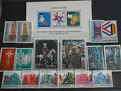 Année complète 19 timbres neuf LUXEMBOURG 1969