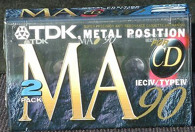 SEALED 2 x cassettes TDK MA90 metal