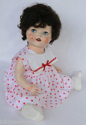 PEDIGREE HARD PLASTIC DOLL 20 inches  MADE IN ENGLAND 1950s TODDLER