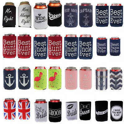 2pcs Creative Stubby Sleeve Beer Bottle Can Cooler Holder Wedding Party Favor