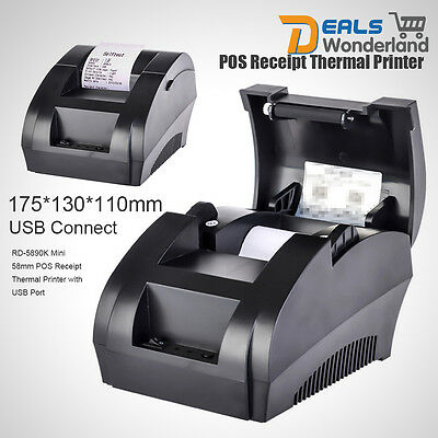 RD-5890K Mini 58mm POS Receipt Thermal Printer with USB Port