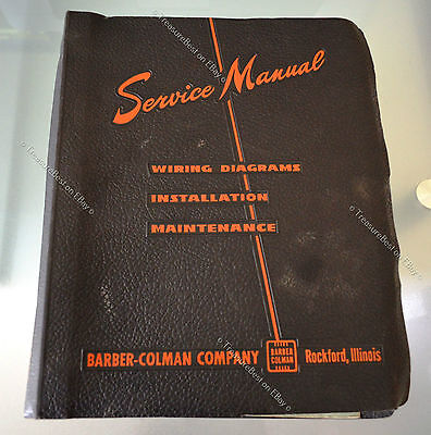 Leather Service Manual 1956 Barber-Colman Company Rockford illinois install wire