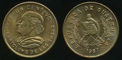 Guatemala, Republic, 1987 1 Centavo - Uncirculated